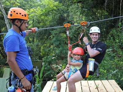 4 zip lines and hiking in Huasteca Potosina 1,5 h