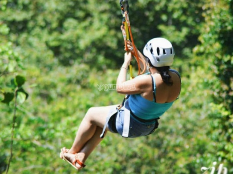 Adventure in our zip lines