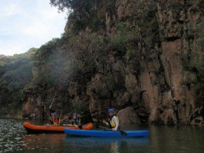 Aventura en kayak con comida en Jalpa de Cánovas