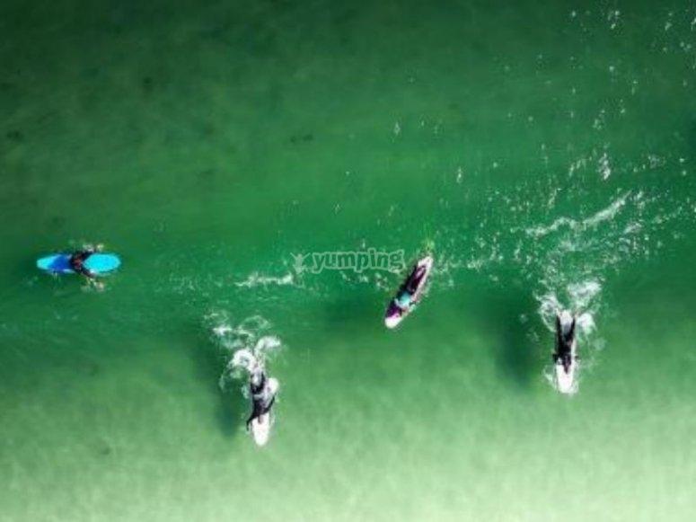 Playa la Saladita ideal para el surf