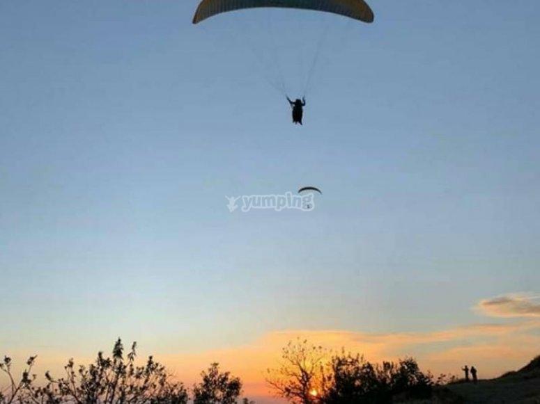 Impressive landscapes from your paraglider