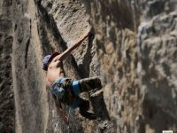 Climbing and abseiling in Los Pericos Lago Valsequillo