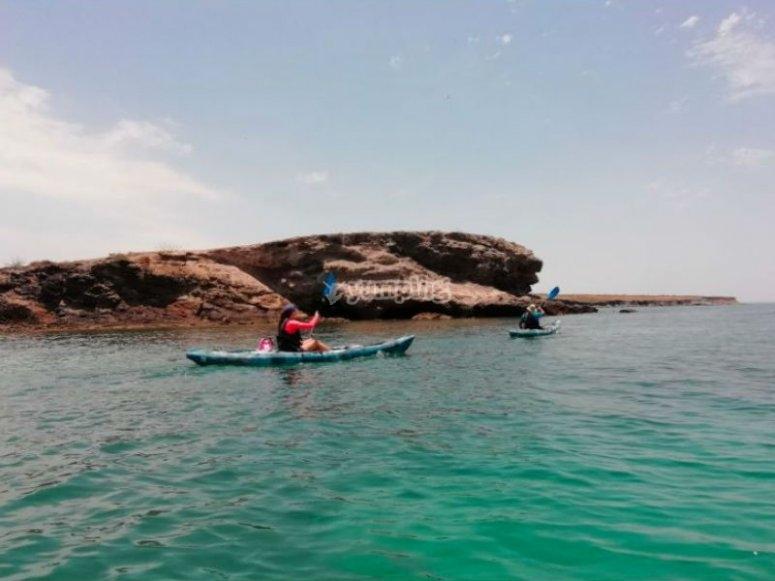 Kayak in Baja California Mexico