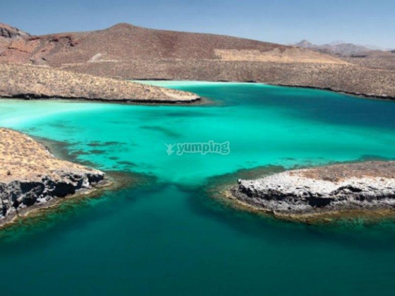 Isla Espiritu Santo en el Mar de Cortés
