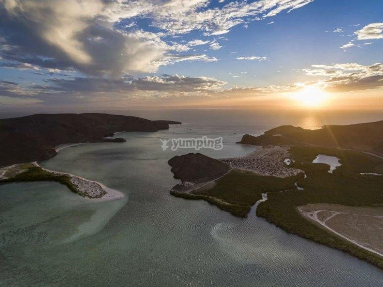 Isla Espiritu Santo al atardecer