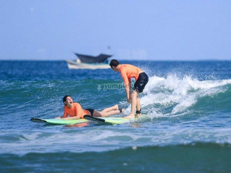 Gran experiencia de surf en Punta Mita