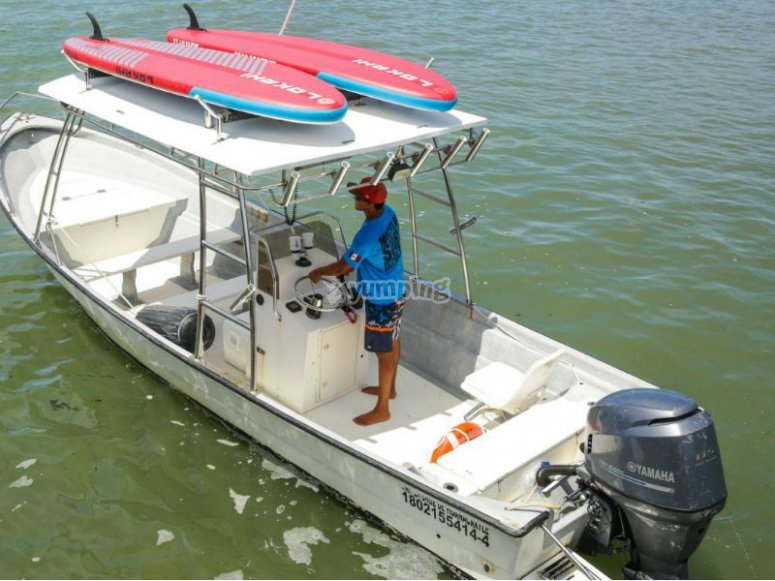 Our boats that will take you to the Marietas Islands with your SUP board