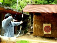 Practice your aim with archery
