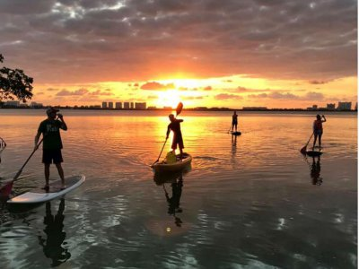 Stand Up Paddle at sunrise in mangroves Cancun 2h