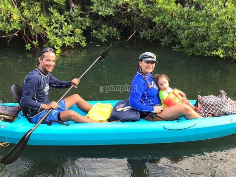 Kayak route through the mangroves