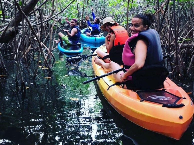 Exotic kayak route