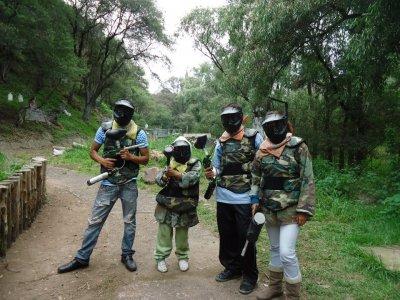 Partida de Gotcha 1100 balas en Chiluca