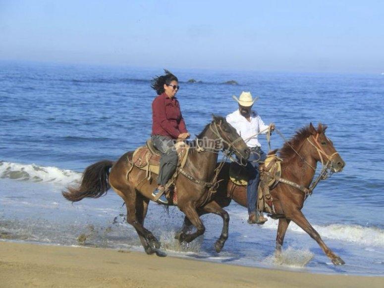 Ride along the beach