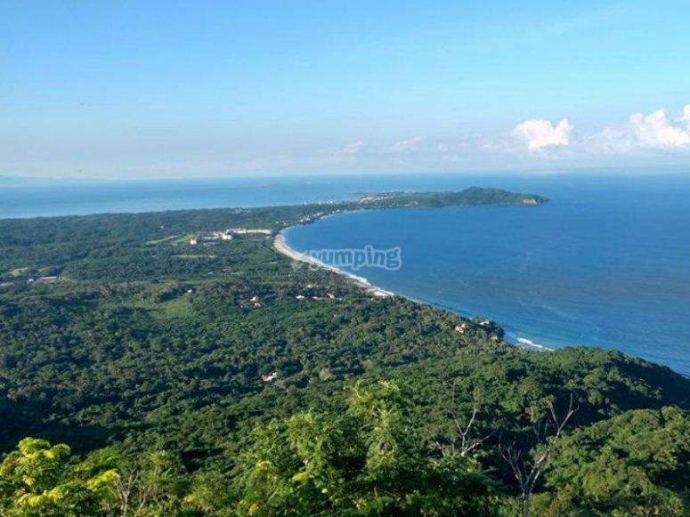 Panoramic view of Sayulita