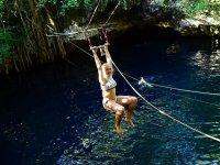 Fun in a natural cenote