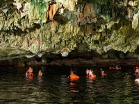 Swimming in cenote and cave