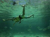Snorkeling in cenote