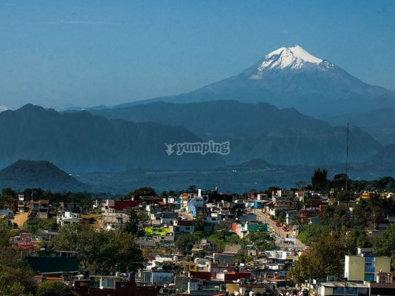 View from far away from Pico de Orizaba