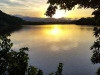 The Sontecomapan lagoon at sunset