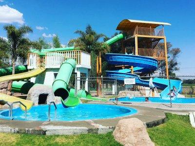 Adventure in a water park in Lagos de Moreno