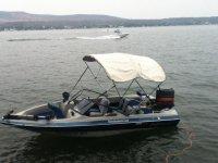 Fishing boat in dams