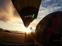 Amanecer en globo aerostático