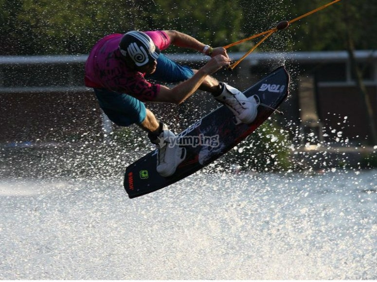 Pure adrenaline in Lake Teques