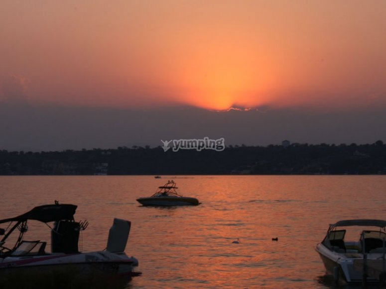Beautiful sunsets on the Lake de Tequesquitengo