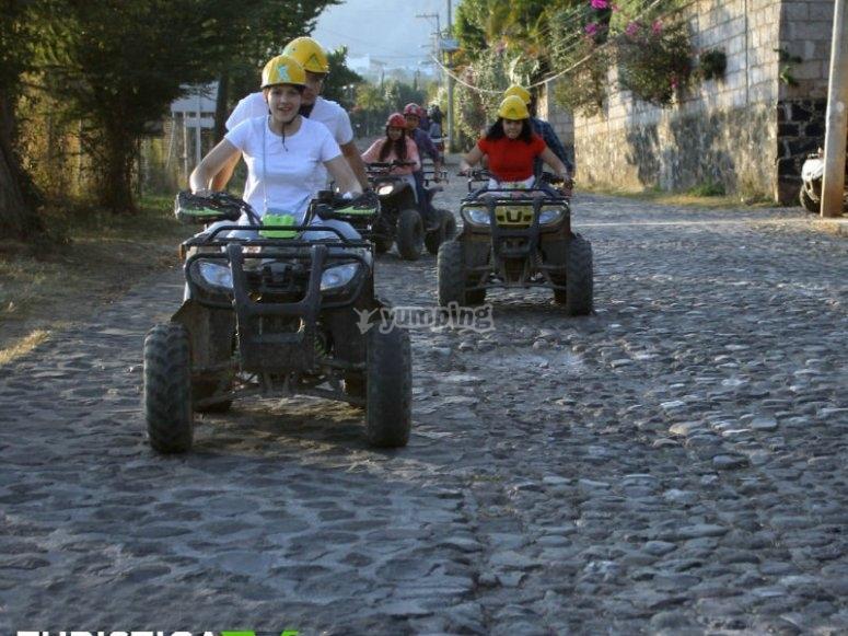 Malinalco streets by ATV