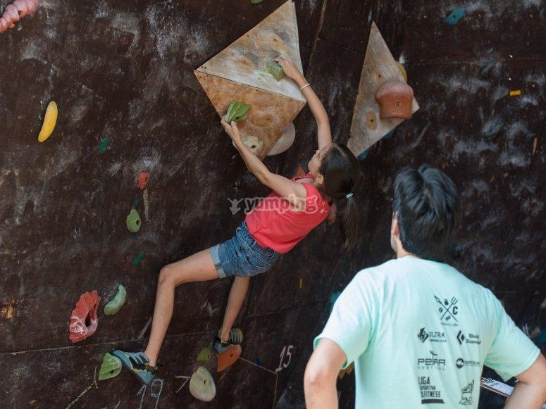 Curso de escalada infantil