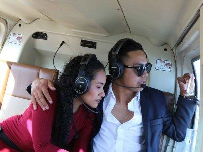 R-44 helicopter flight in Monterrey 30 min
