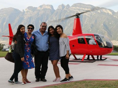 Bell 206 helicopter flight in Monterrey 30 min