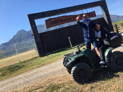 ATV and kayak tour in Santiago 2 hours