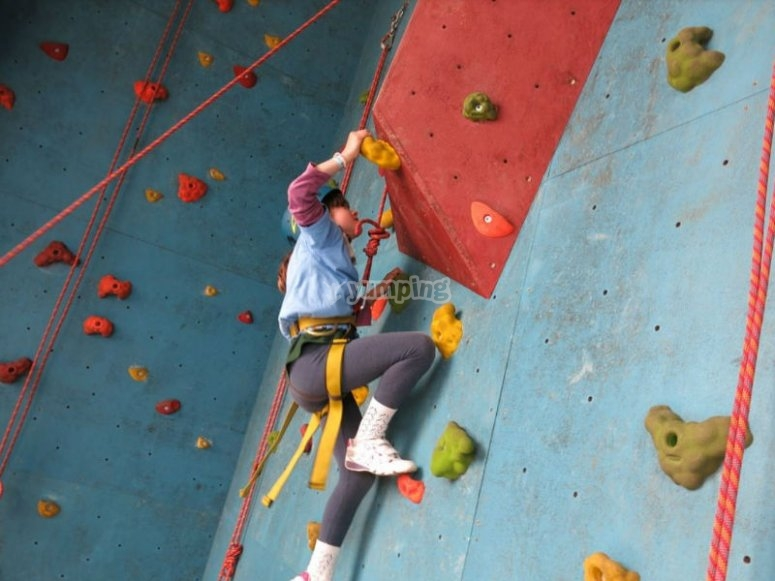 Have fun in our climbing wall