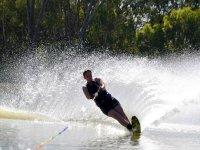 Water skiing in Puerto Marqués Acapulco 1 hour