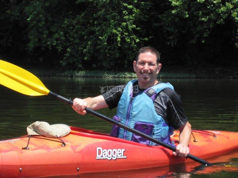 Gran experiencia remando un kayak
