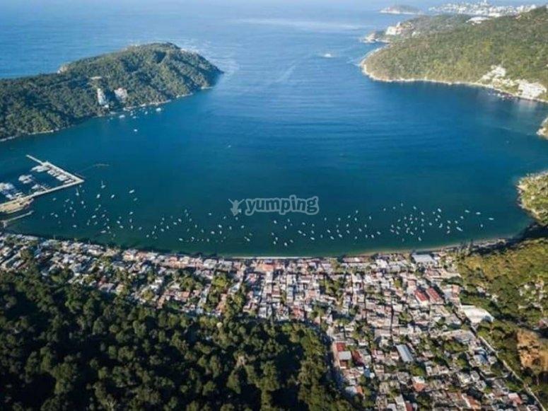 Impresionante bahía de Puerto Marqués
