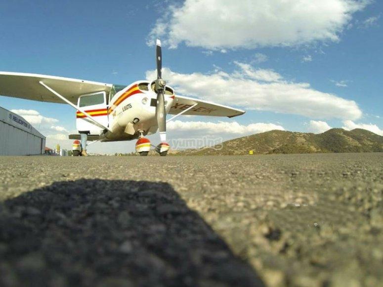 Flights in a plane