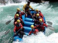 Rafting sobre agua
