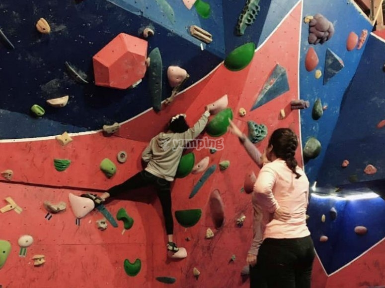 Climbing with different levels of difficulty