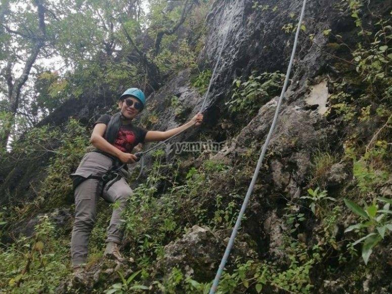 Fun in climbing tour