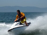 Adrenaline when driving your jet ski