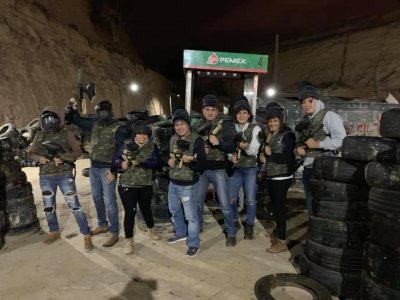 Battle of gotcha with 100 capsules in Pachuca