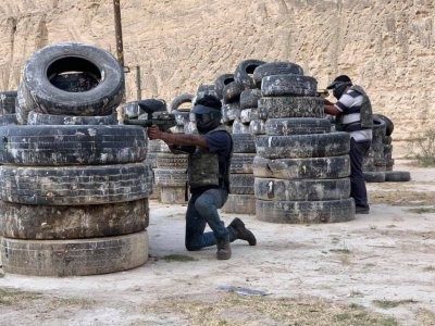 Battle of gotcha in Pachuca with 250 balls
