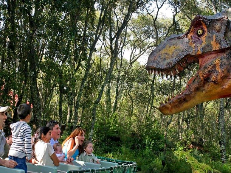 Meeting dinosaurs