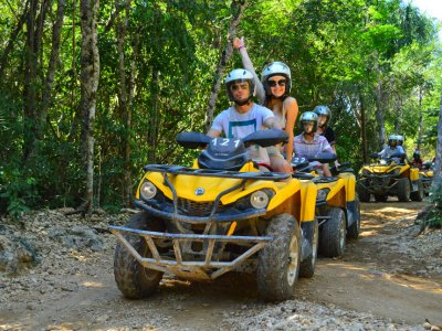 ATV tour and cenote snorkel Riviera Maya