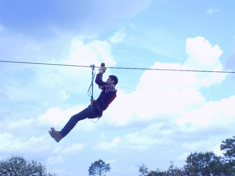 Slide on our zip lines