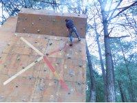 Climbing wall in the park in Mazamitla 50 min