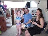 En familia en el barco