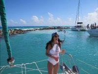 Paseando en barco en Playa del Carmen